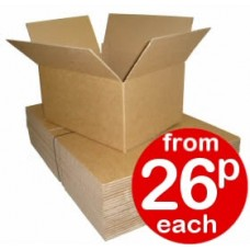 "Cardboard Boxes Single Wall Cartons - 343x241x114mm (13.5x9.5x4.5"")"
