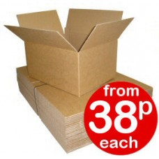 "ROYAL MAIL SMALL PARCEL MAX. Cardboard Boxes Single Wall Cartons - 444x343x145mm (17.5x13.5x5.5"") - 450x350x160MM - NEW!!!"