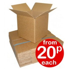 "Cardboard Boxes Single Wall Cartons - 177x147x64mm (7x5.8x2.5"") - ROYAL MAIL MAX. 80MM DEPTH"