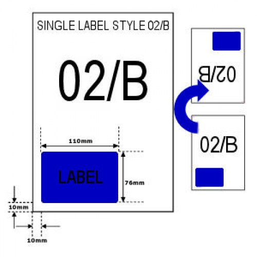 A4 Integrated Easy Labels - Style 02/B