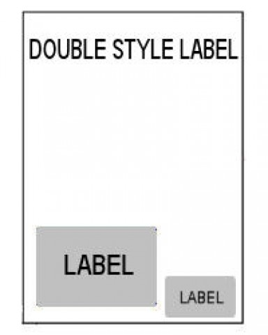 A4 Integrated Labels - Double