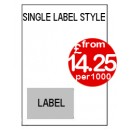 A4 Integrated Labels - Single