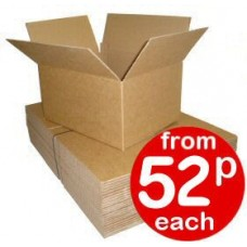 "Cardboard Boxes Single Wall Cartons - 410x310x200mm (16.1x12.2x7.87"")"