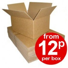 "CLEARANCE Cardboard Boxes Single Wall Cartons - 207x127x171mm (8.1""x5""x6.7"") - RECYCLED TEST OUTER"