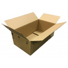 "Cardboard Boxes Single Wall Cartons - 435x248x160 (17.1"" x 9.7"" x 6.3""- (QTY 100) - ONLY 35p - Umbrella logo - CLEARANCE"