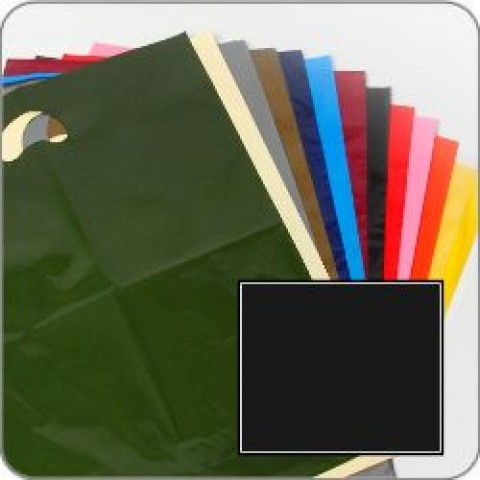"Black Quality Punch Handle Coloured Carrier Bags 8"" x 12"""