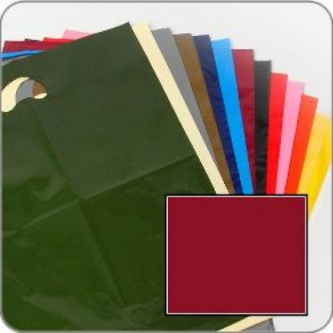 "Burgundy Quality Punch Handle Coloured Carrier Bags 8"" x 12"""