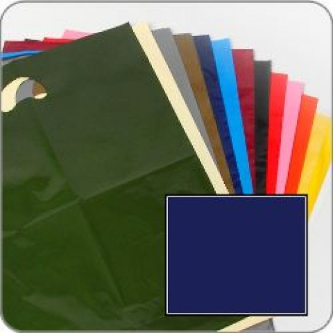 "Dark Blue Quality Punch Handle Coloured Carrier Bags 8"" x 12"""