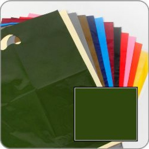 "Harrods Green Quality Punch Handle Coloured Carrier Bags 8"" x 12"""