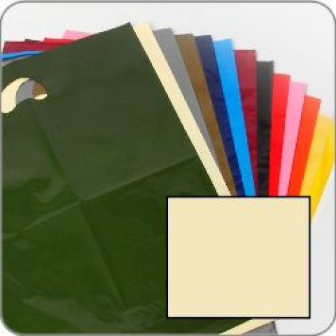 "Ivory Quality Punch Handle Coloured Carrier Bags 8"" x 12"""