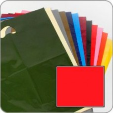 "Red Quality Varigauge Coloured Carrier Bags 15"" x 18"" + 3"""