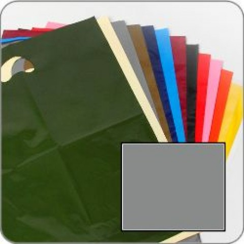 "Silver Quality Punch Handle Coloured Carrier Bags 8"" x 12"""