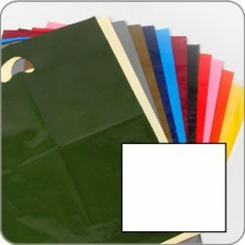 "White Quality Punch Handle Coloured Carrier Bags 8"" x 12"""