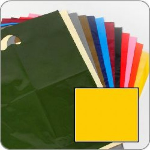 "Standard Yellow Quality Punch Handle Coloured Carrier Bags 8"" x 12"""