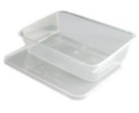 Microwave Plastic Food Containers with Lids - 500cc (500ml)