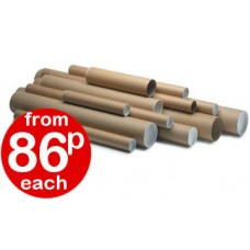 "Postal Poster Tubes (63.5 x 813mm) 2.5"" x 32"" + End caps"