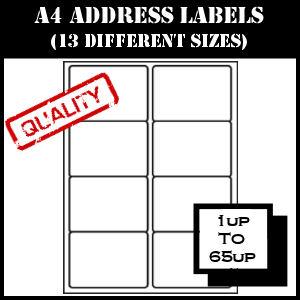 A4 Sheet Address Labels